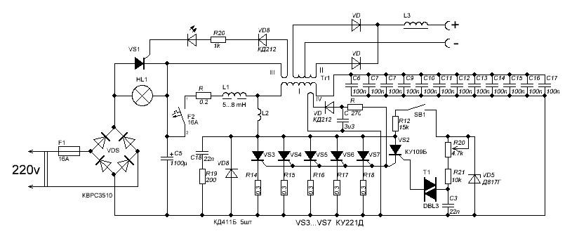 Схема простого сварочного инвертора своими руками 709