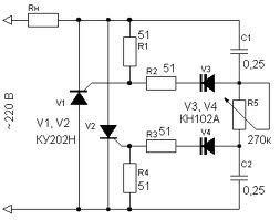 стабилизатор тока схема на теристорах - Исскуство схемотехники.