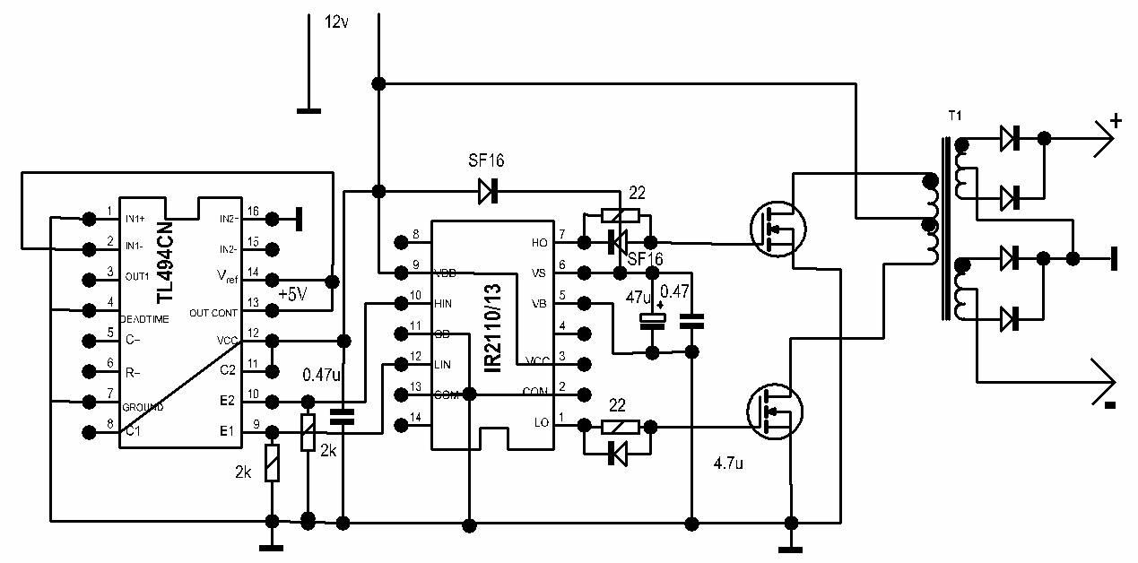 Ir2113 схема подключения