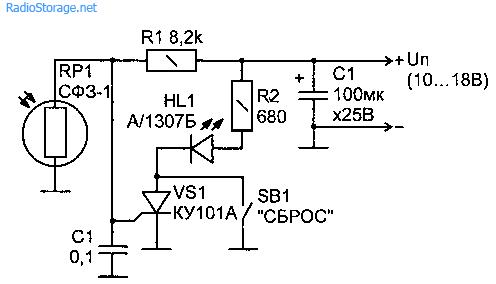 Простое и надежное устройство охранной сигнализации с самоблокировкой представлено на принципиальной схеме (рис. 1.20)...