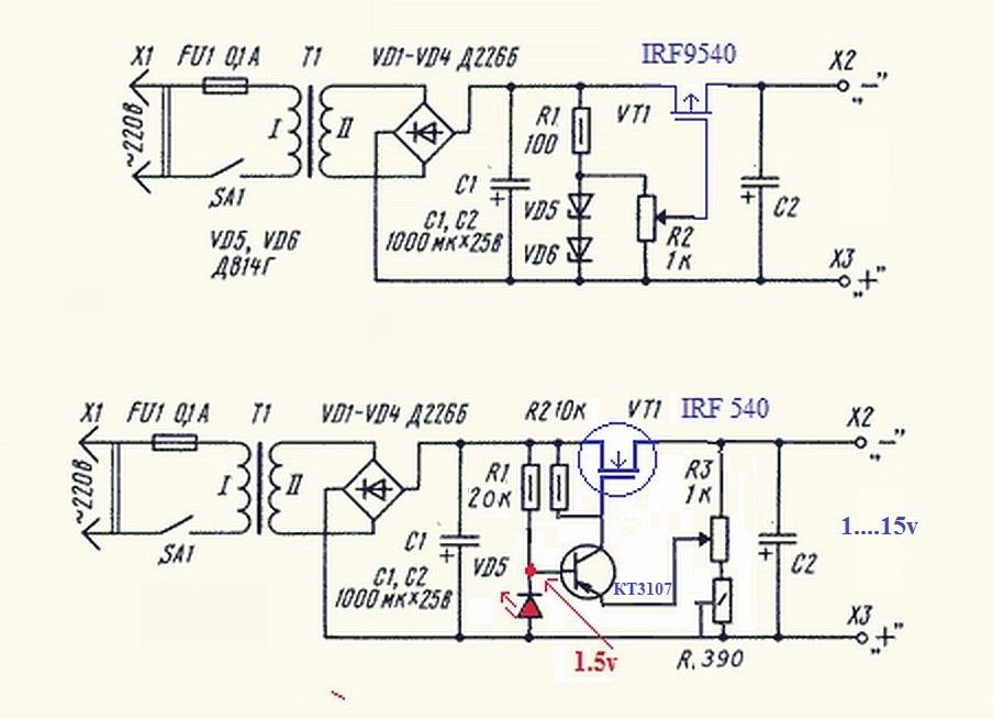 Схема установки радиатора с терморегулятором