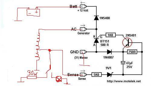 схема зарядки на скутере 4т