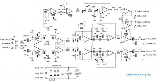 схема кроссовера для сабвуфера