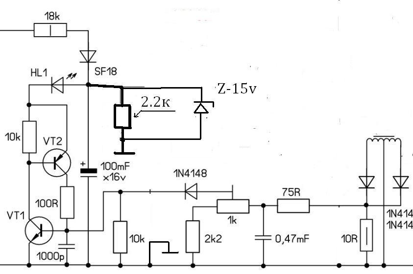 Импульсный блок на ir2153 yamaha