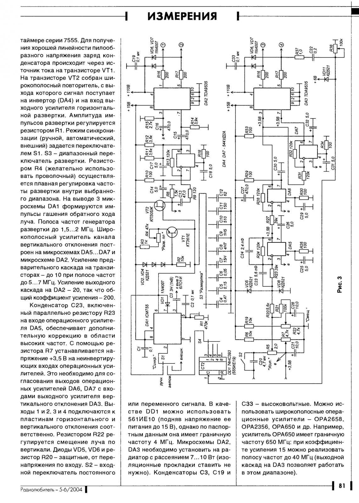 Схемы осциллографов на транзисторах для сборки своими руками