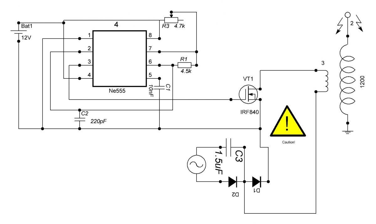 Схема генератор на 555