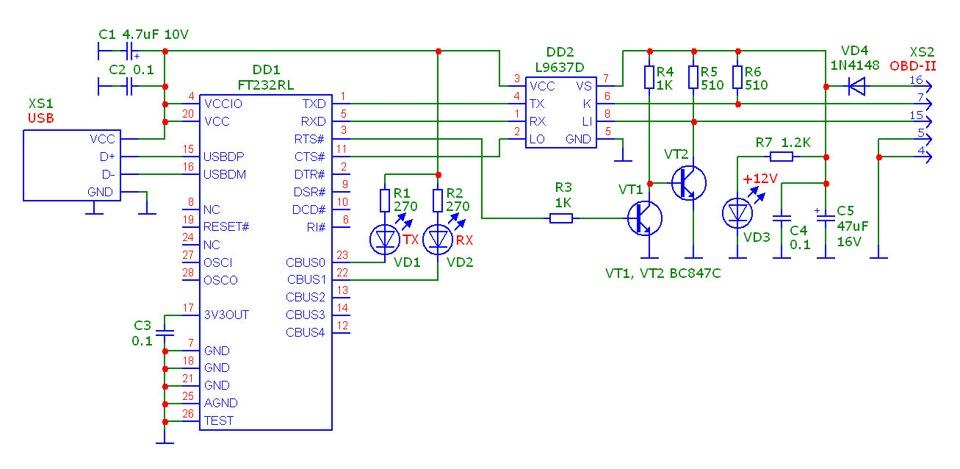 Диагностический адаптер на микроконтроллере 125