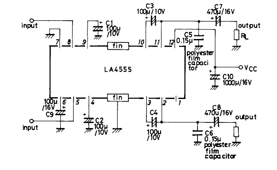 La4555 усилитель схема
