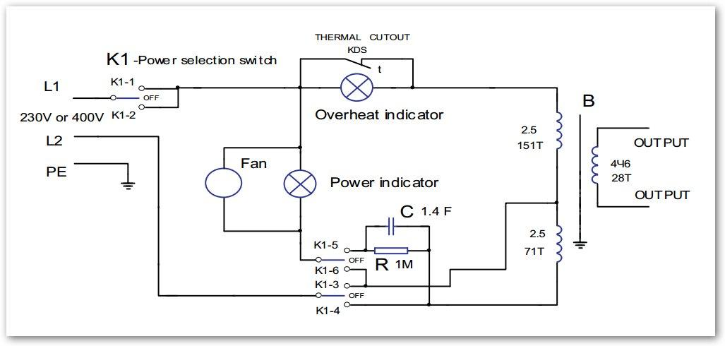 Схема трансформатор сварочный wt-250