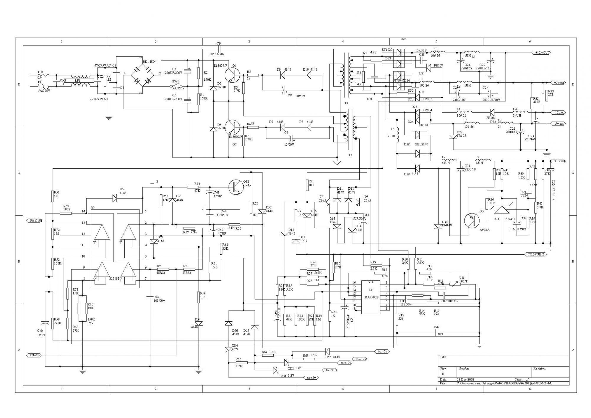 Схема блока питания на fan7601