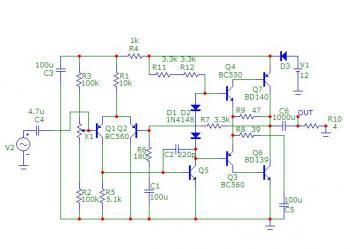 Вот имею схему транзисторного