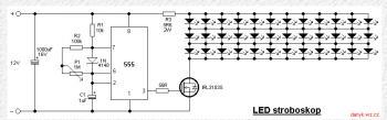Это очень простая схема светодиодного Стробоскопа , управляемого таймером 555 серии, P1 используется для установки...