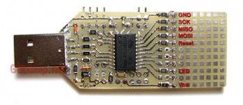 """Минус - для программатора требуется программатор, хотя бы  """"5 проводков в... давайте добавим USB AVR программатор на..."""