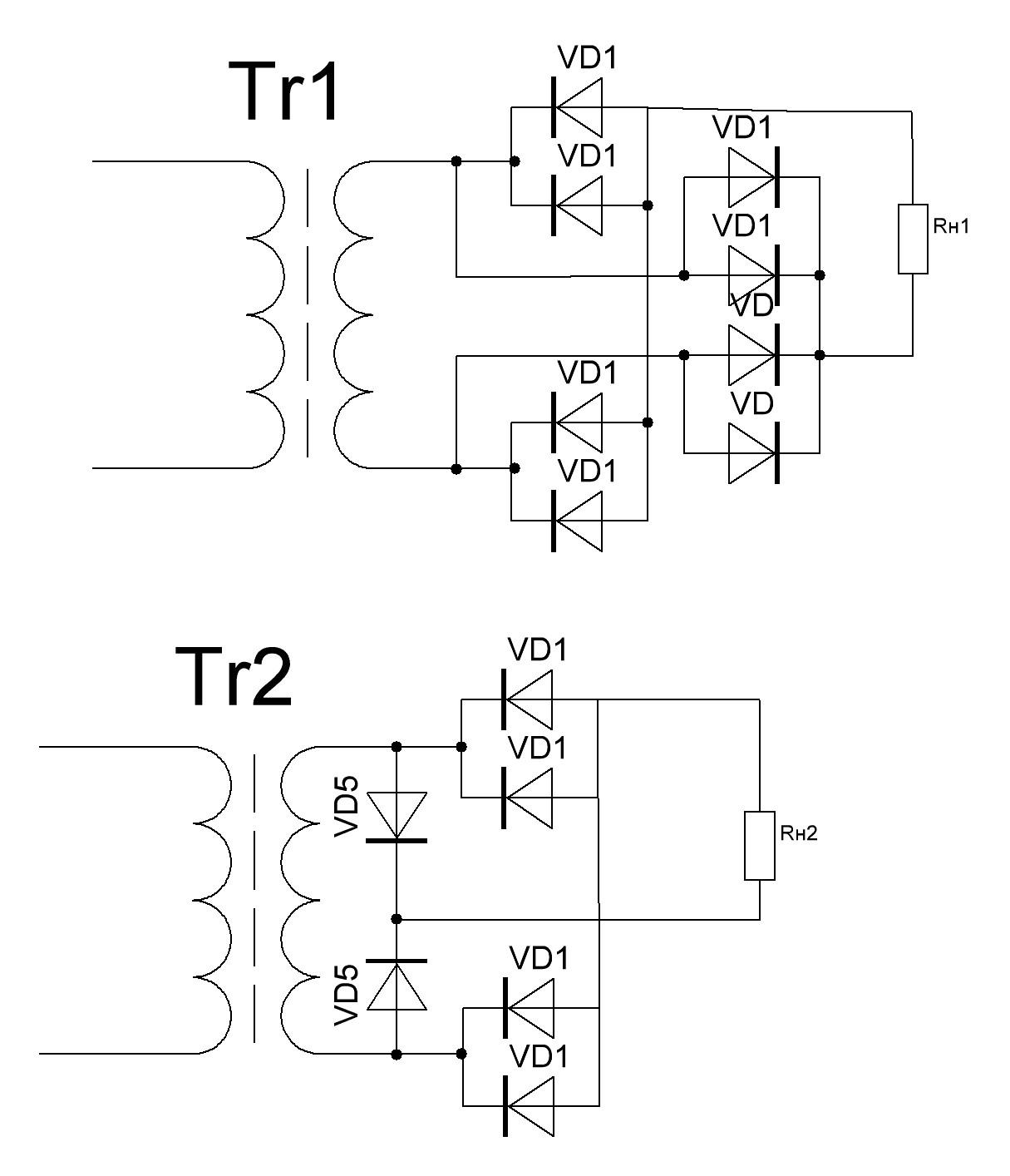 Схемы на сдвоенных диод