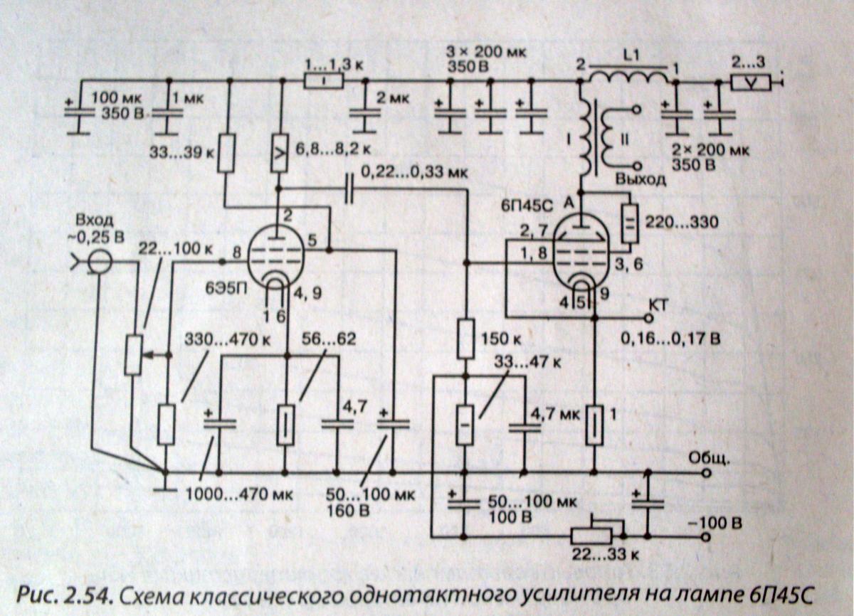 Ламповые усилители своими руками 6п45с