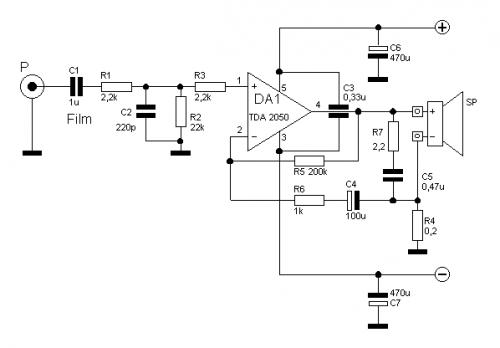 Простой концептуальный усилитель на МС TDA2050 по схеме ИТУН.png.