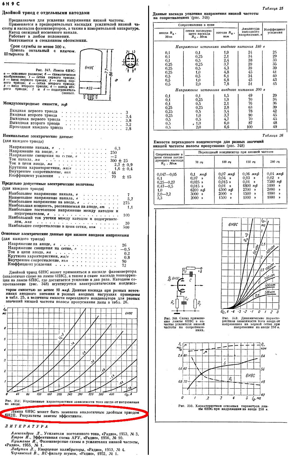 Схема на 6н8с в предварительном усилителе