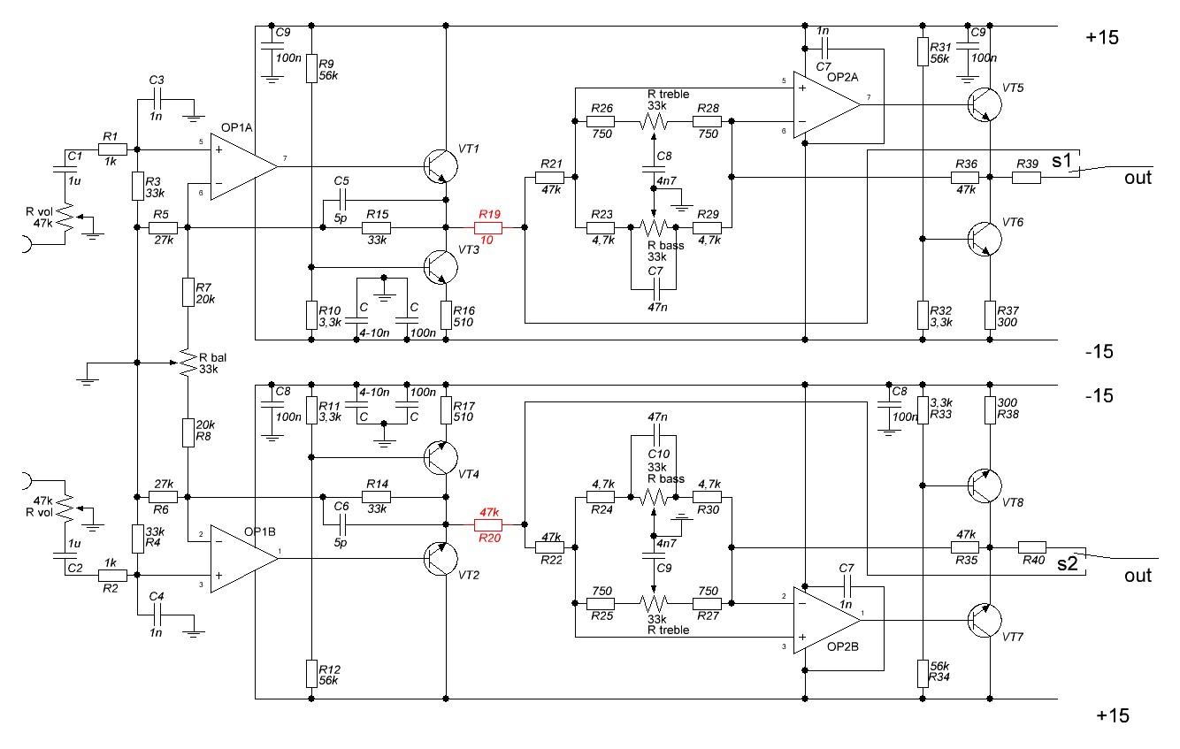 Схема питания для tl072