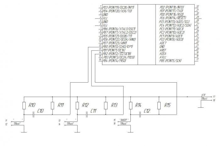 переключатель kende hz5b 20 4 схема