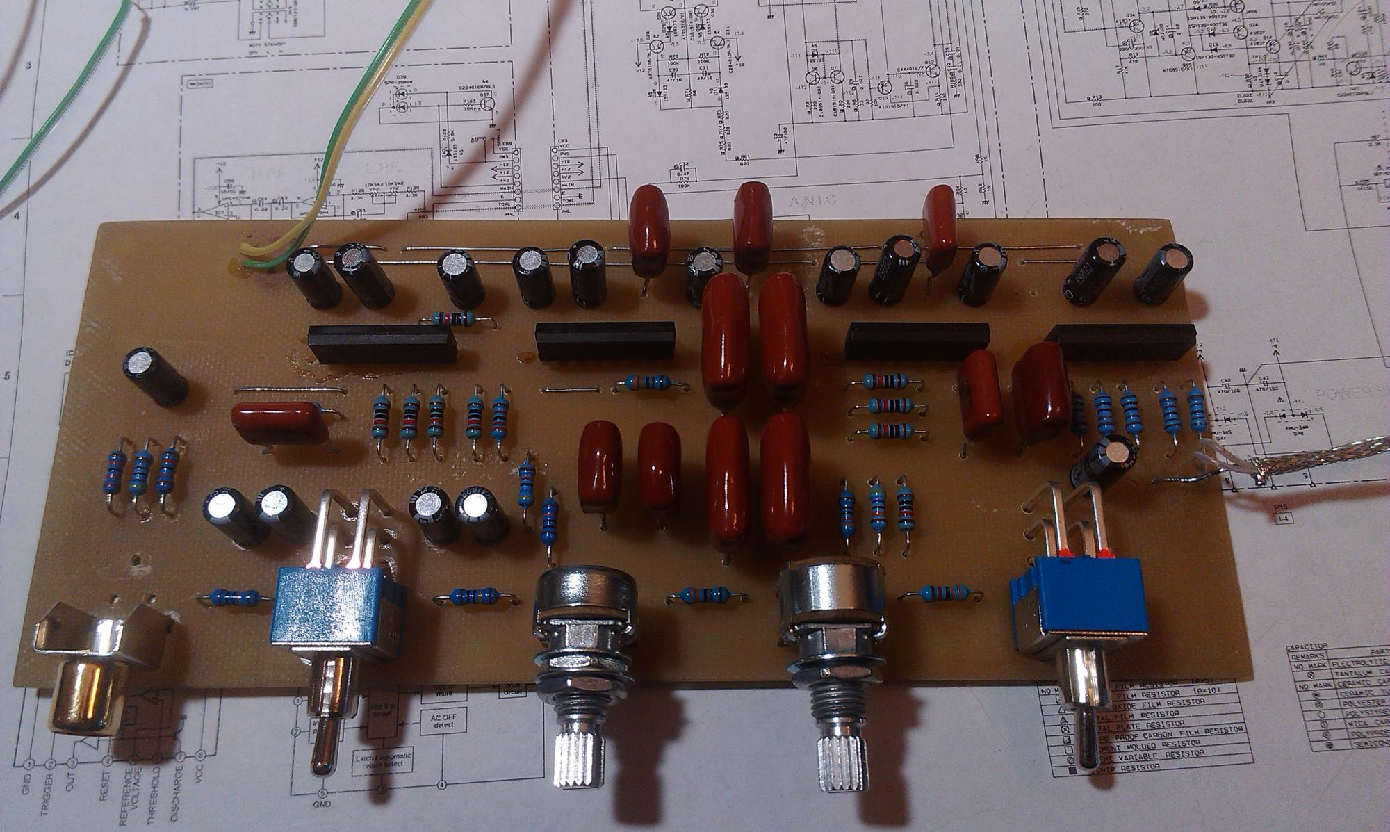 схема блок обработки сигнала саба