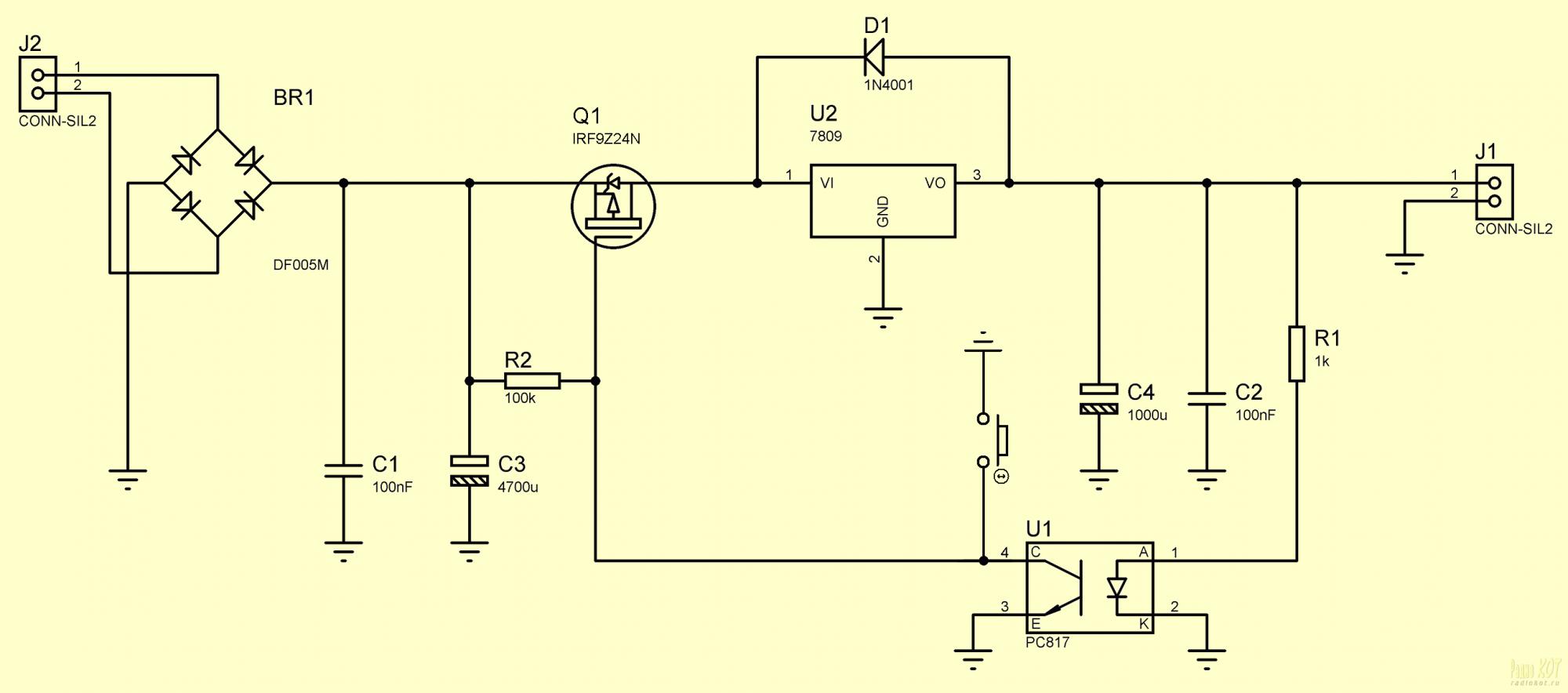Схемы зарядных на полевиках