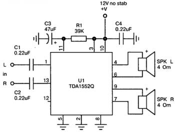 Схема усилителя на tda1552q