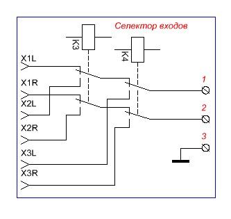 схема селектора входов усилителя стирки термобелье нельзя