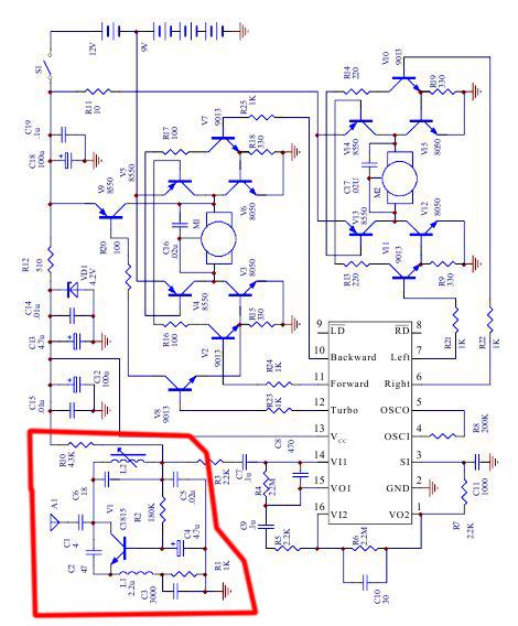 Схема машинки на радиоуправлении