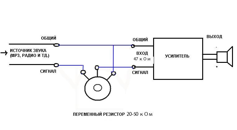 схема резистора переменного