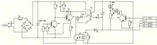Принципиальная схема зарядного устройства mp3 плеера Direc MF6167.
