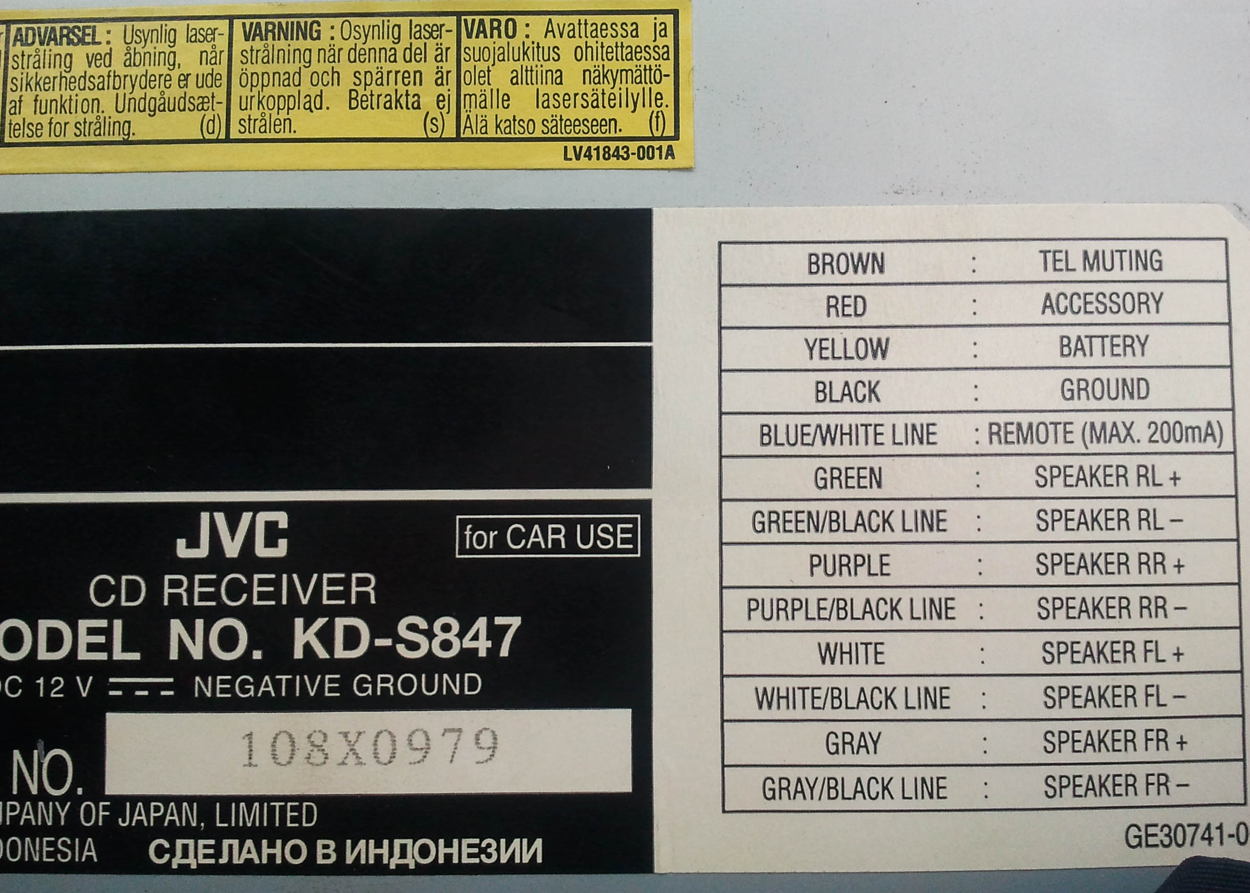 Схема подключения магнитолы jvc kd-x40