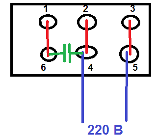 Подключение бетономешалки схема 4 проводами