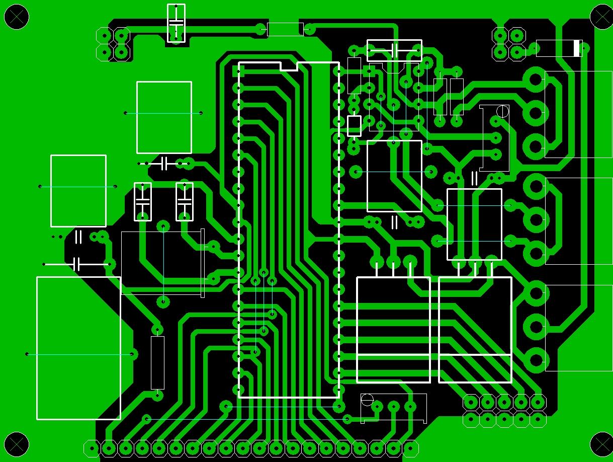 Схема и печатная плата осциллографа