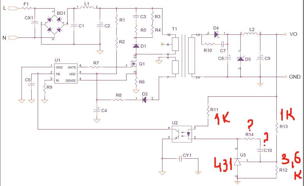 Принципиальные схема gs-8300n