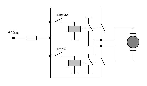 Схемы с переключателями полярности