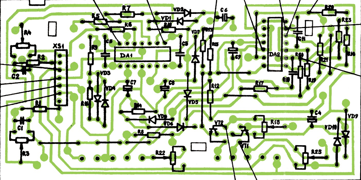 схема телевизора эленберг 1402