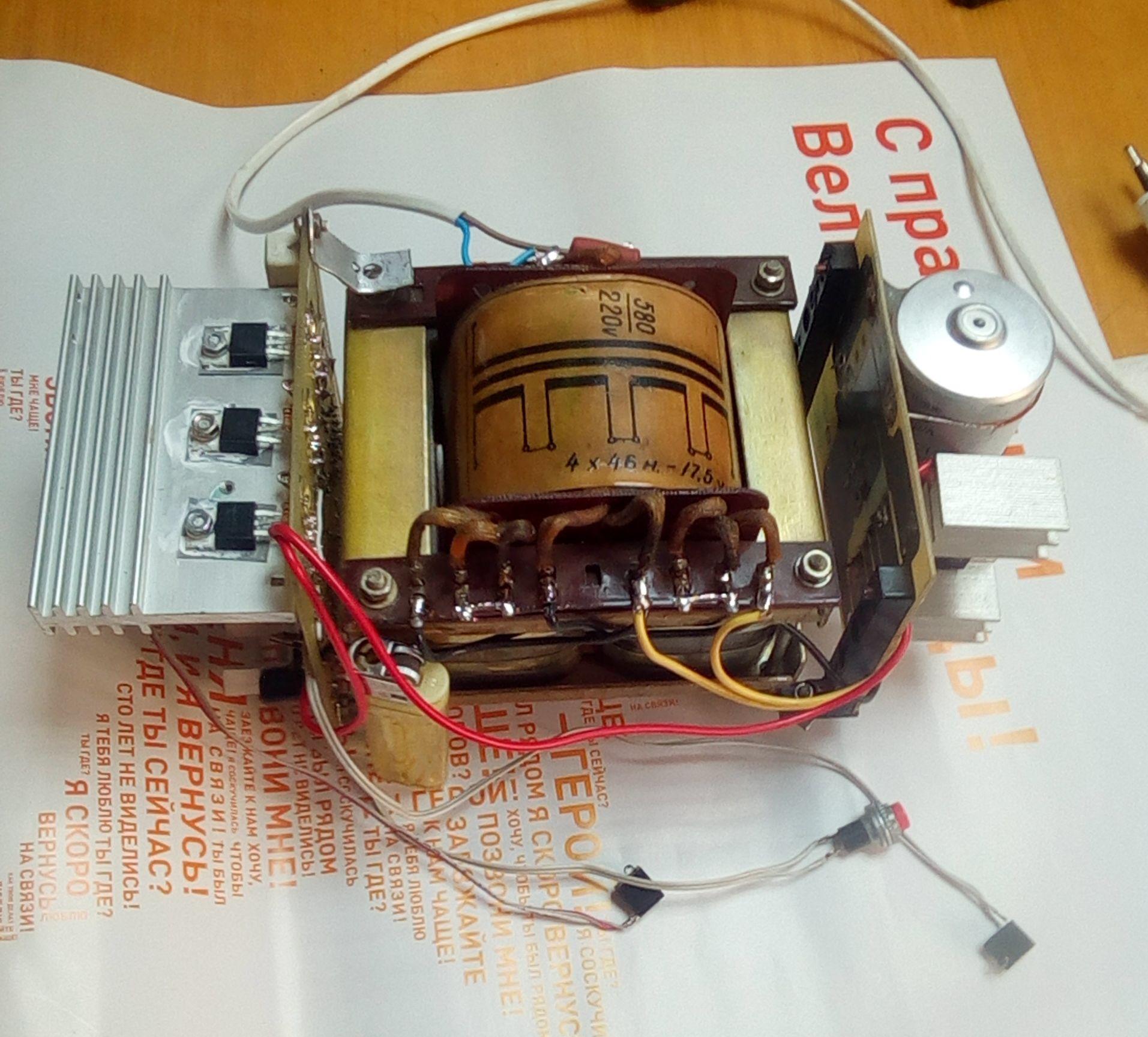 Как сделать инвертор из 220 в 12 в из блока питания от компьютера