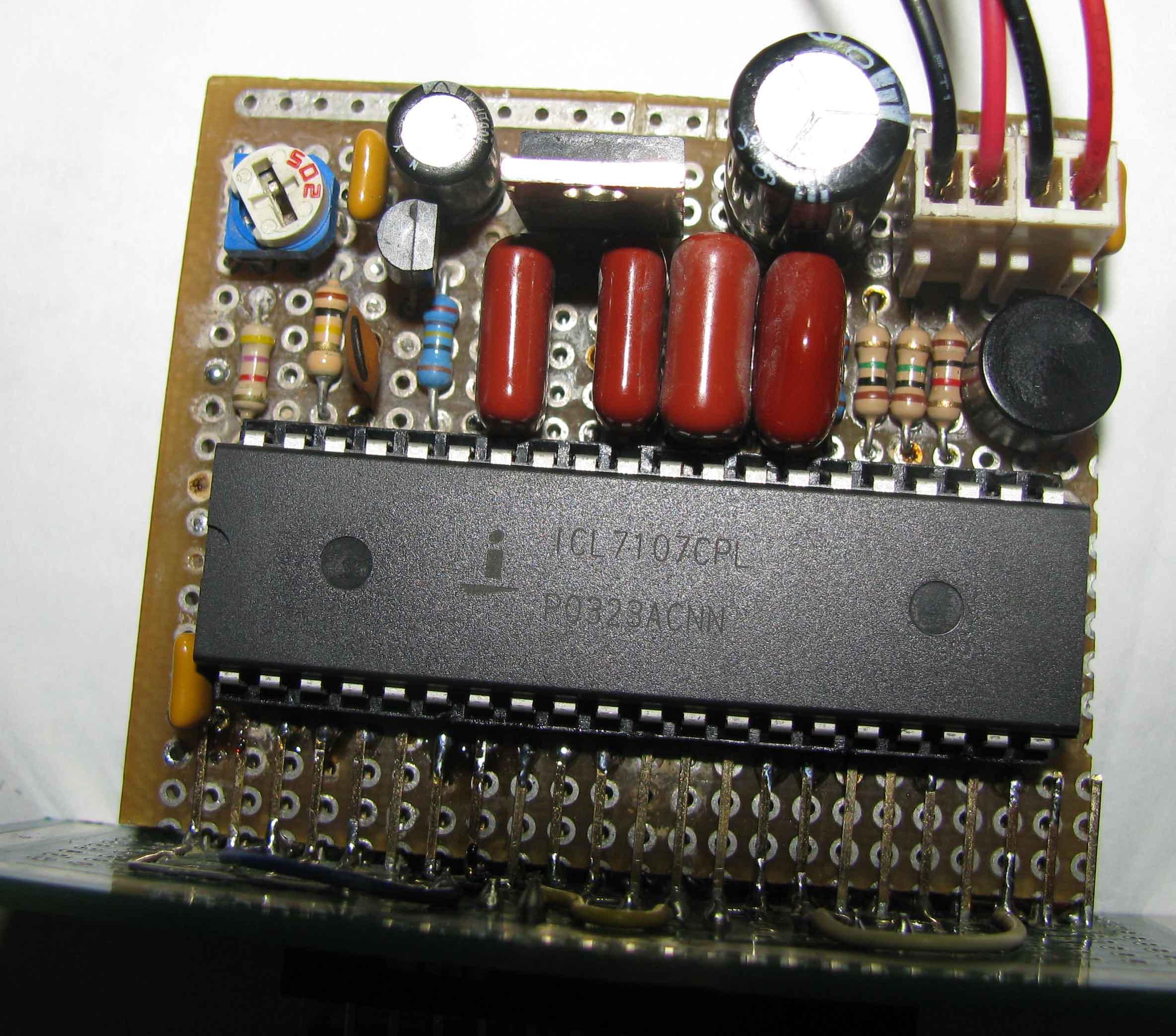 схема вольтметра на icl7106
