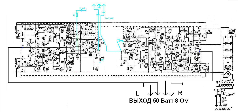 Трансляционный усилитель 100у-101 схема