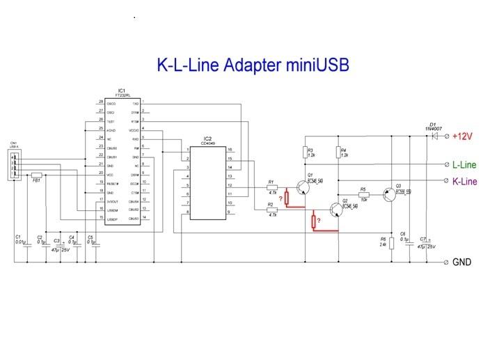 Самодельный k line адаптера