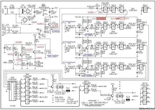 Опубликовано 14 Август 2012 - 12:17. yurii80, вот эта схема может пригодится.  Наверх.