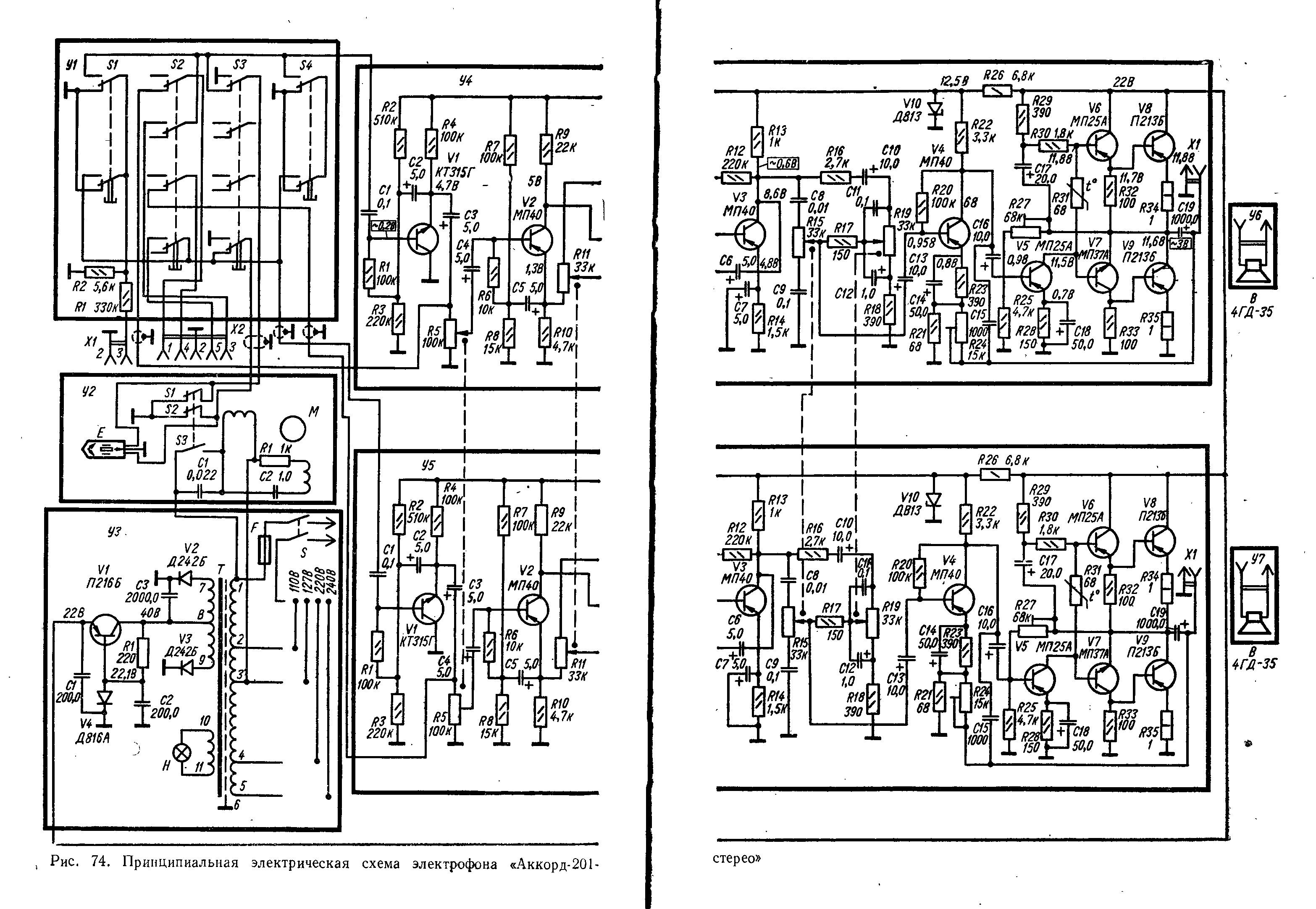 Схема рондо 206 стерео схема