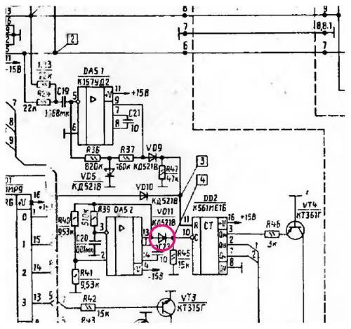 """В  """"Вега 50У-122С  """" отключить таймер можно, выпаяв диод VD11 (КД521В) в Блоке коммутации А1."""