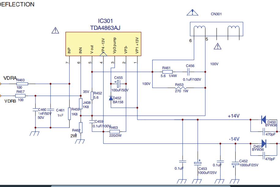 Схема микросхемы tda6107jf