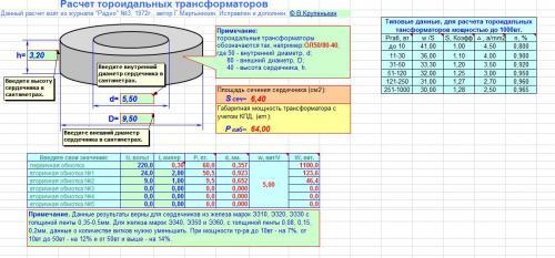 Расчет тороидального трансформатора своими руками
