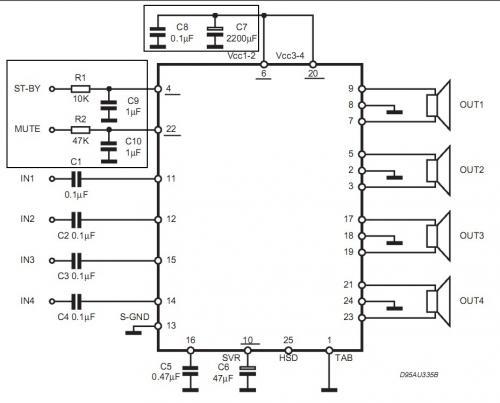 Усилитель мощности НЧ собран на микросхеме TDA7386. представлят из себя простой, но в тоже время обладающий.