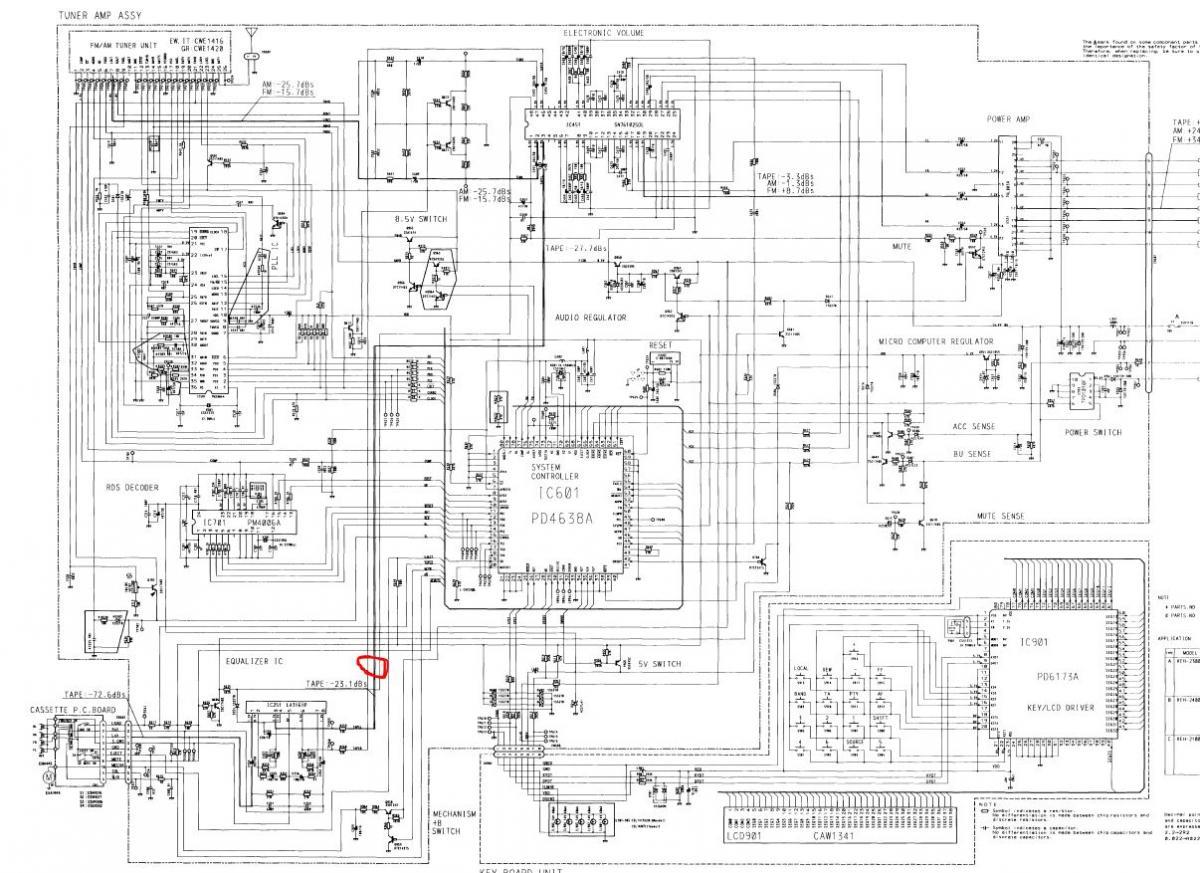 элсхема автомагнитофон sevila126