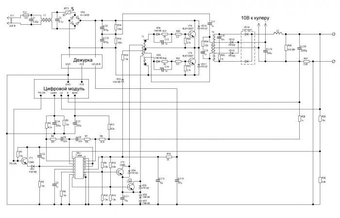 БП АТХ с цифровым модулем (Схема).JPG