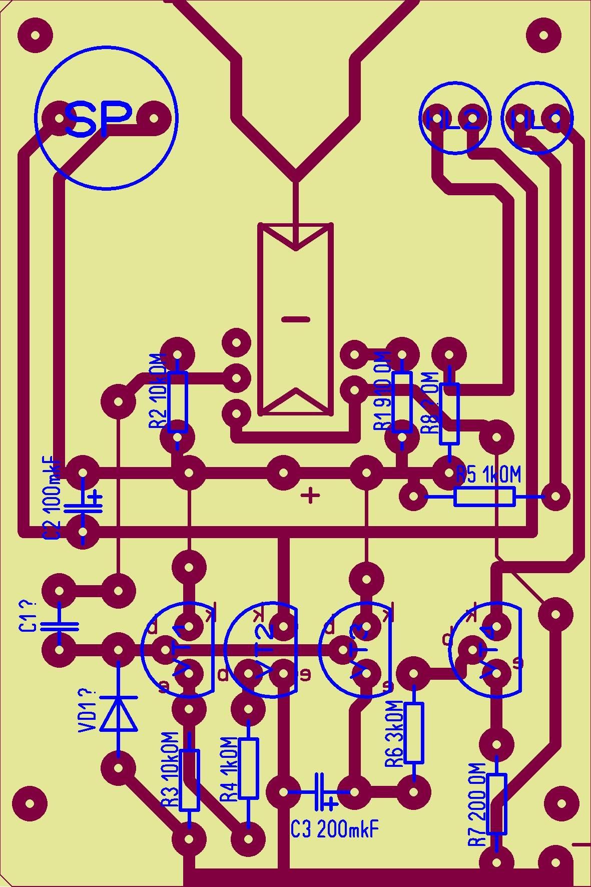 Китайский электронный сигнализатор поклевки схемы