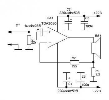 схемы усилителя для колонок - Практическая схемотехника.